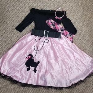 Girls sock hop costume